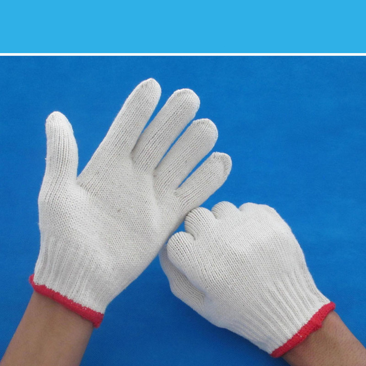 high quality cotton work hand glove