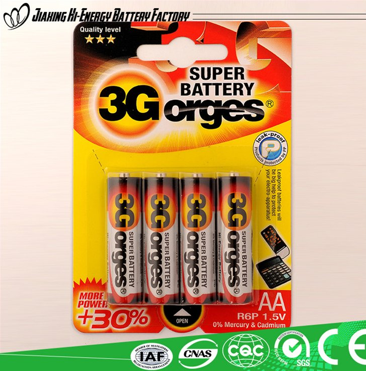 Alibaba Suppliers New Leader Battery R6P/AA/UM-3 Battery