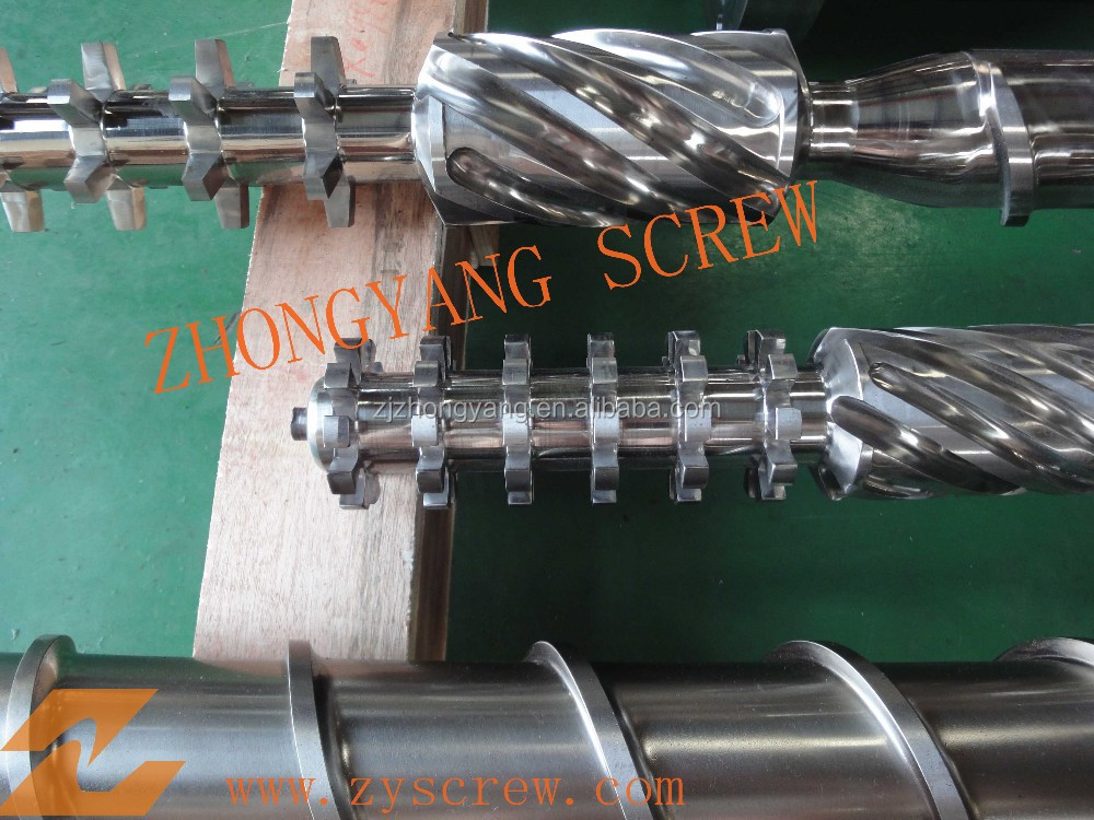 Single barrel and screw of Mixed crack head with high production for extruder machinery