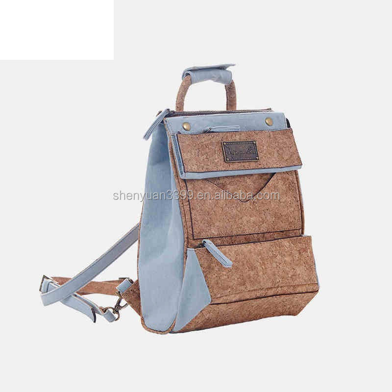 Cork material backpack fashion natural cotton paper bag high quality eco-friendly unisex backpack Taobao