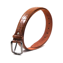 FM brand hot sale fashion China Supplier Leather belt with pin Buckle Customized Logo Men Belt