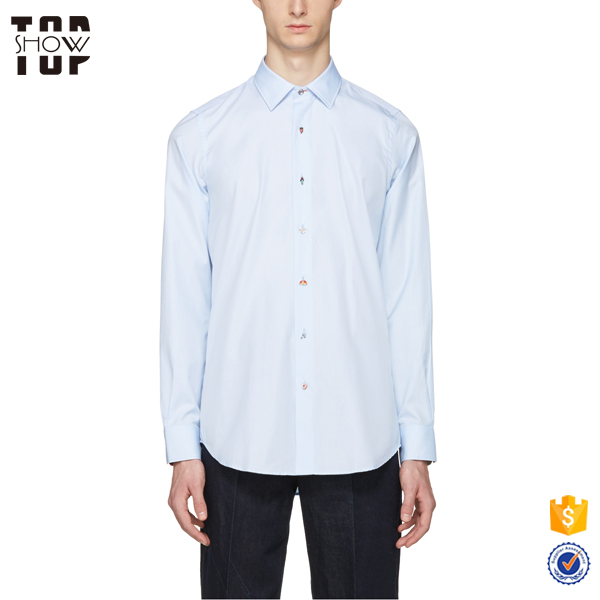 Pictures of formal shirts men blue charm buttons long sleeve cotton latest shirt designs for men