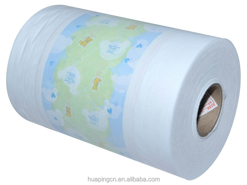 Cotton soft nonwoven laminated film nonwoven laminated film -Baby Diaper/ adult diaper raw materials