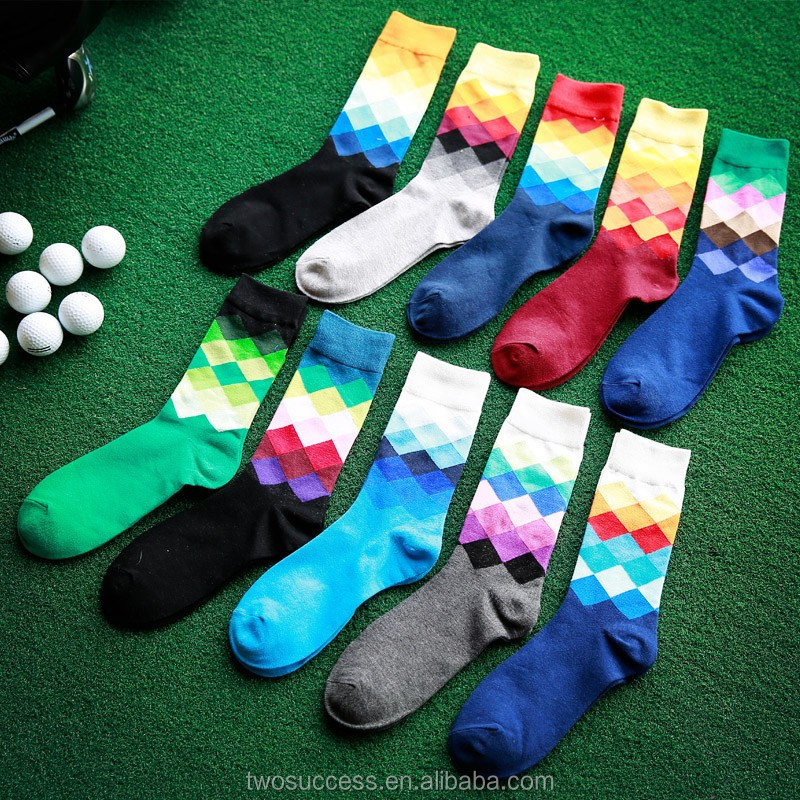 Fashion Men's Changing Colors Tube Socks Custom Cotton Sport Sock