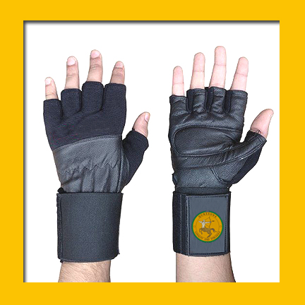 Goatskin weight lifting fitness gym gel padding low price strong grip with wrist brown everlast leather gloves NW092