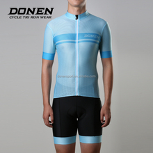 Donen short sleeve customized full sublimation V neck dry fit cycling clothing