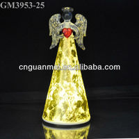 Alibaba China supplied led glass angel figurine
