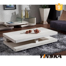 Italy 3 Layers Rectangular Travertine Marble Coffee Table