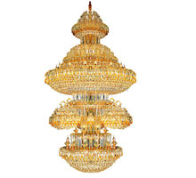 Light frame in 24k gold acrylic chandelier prisms