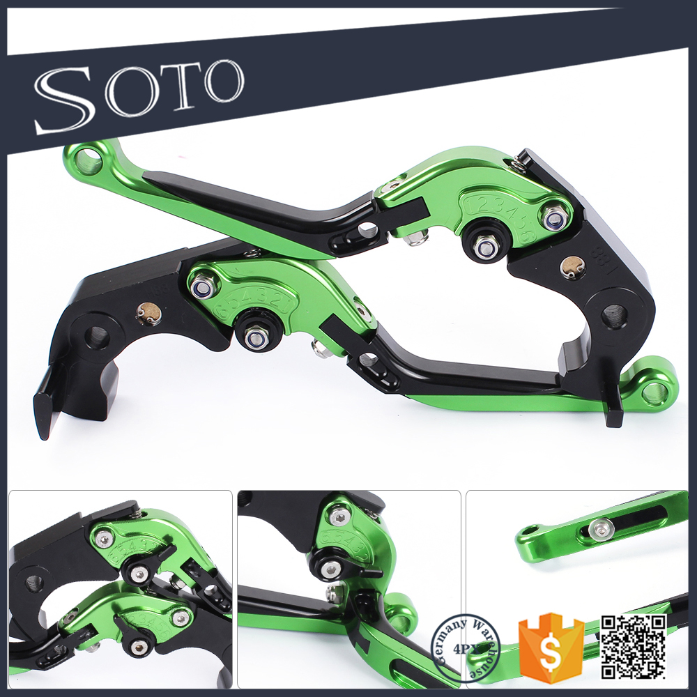 CNC 3D Extendable motorcycle Folding Brake Clutch Levers For KAWASAKI ZX1400 / ZX14R / ZZR1400,GTR1400 / CONCOURS,