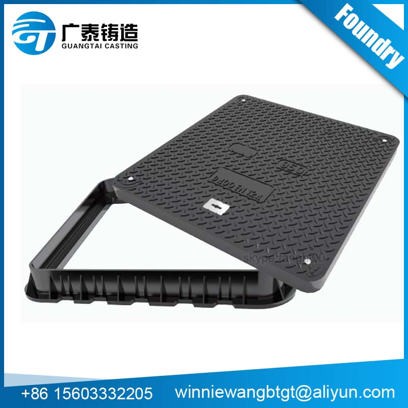 En124 Steel ductile casting iron manhole cover with drain grate