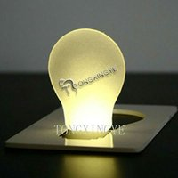 2013,custom logo , Led Light Bulb Pocket Card