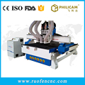 1325 3d 3 heads vacuum table cnc router