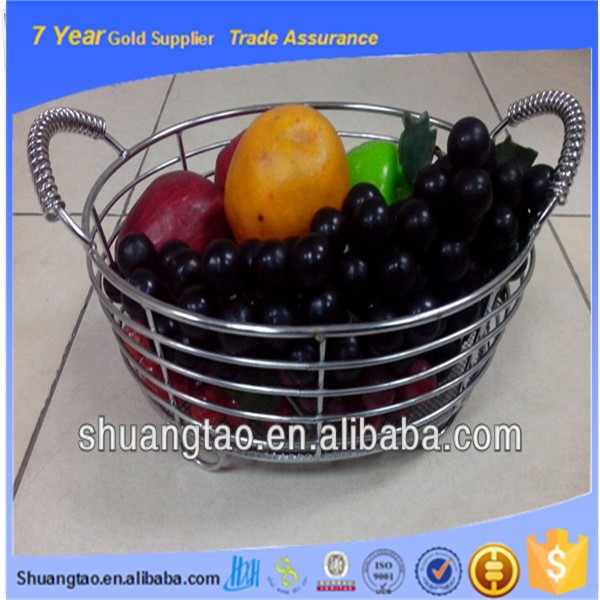 Various style metal wire fruit basket, metal hanging fruit basket, modern wire fruit basket