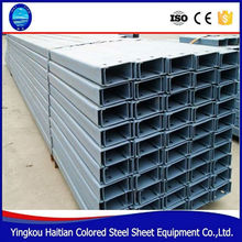 Roll Formed Steel Profile C purlin cold rolled lipped purlin channel types of purlin