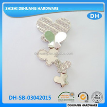 metal shoe buckles,butterfly rhinestone shoe accessories for sandal for Brazil