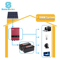 Solarbaba Customizable Solar Energy System for home 1KW 2KW 3KW 4KW 5KW 6KW 8KW 10KW 12KW