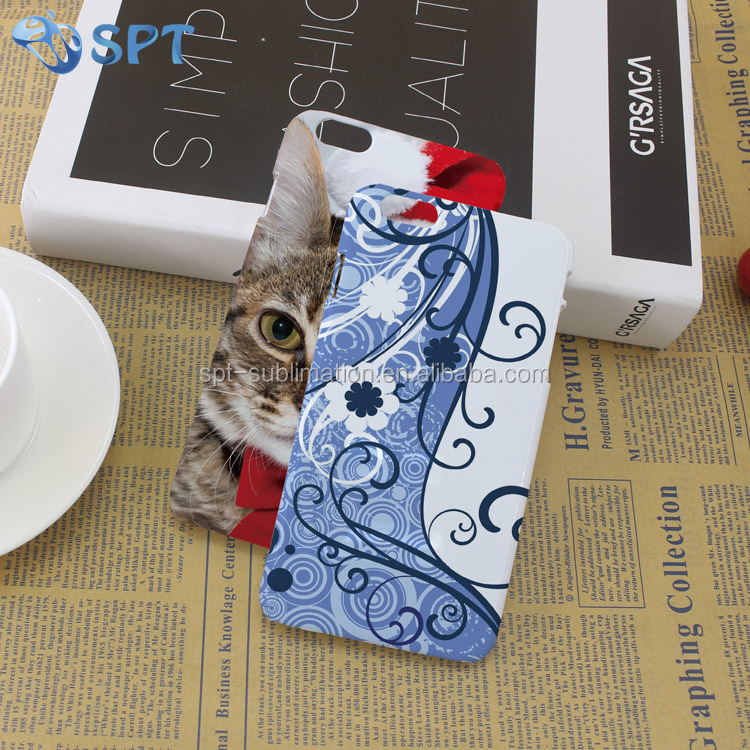 custom design 3D sublimation mobile phone back cover case for Iphone 6 plus