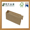 Made in china handmade unfinished pine single sliding wooden wine carrier box