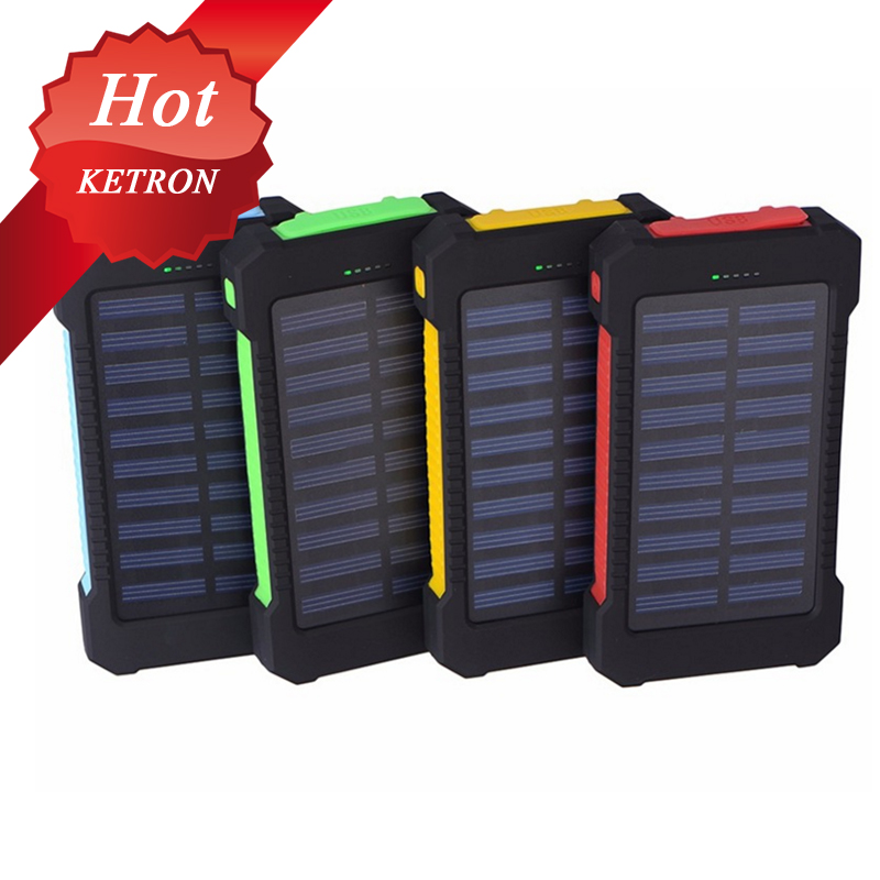 5V/2.1A Waterproof solar power bank 20000 mah usb charger