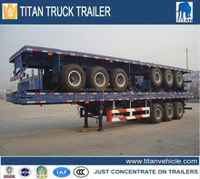 3 Axle Flatbed Semi Trailer Tri-axle Container Semi-trailer Truck Trailer Air Suspension