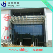 best designed glass curtain wall thoughened glass with colors