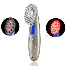 Electric RF Laser EMS Hair Scalp Follicle Stimulator Vibration Massager Brush Comb For Hair Regrowth Hair Loss Treatment