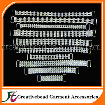 wholesale crystal rhinestone connectors for bikini
