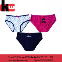 girl's simple underwear brief ,kid's panties with 3 pcs per set ,little girl's underwear brief