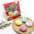 Macarons natural colour kids bath bomb gift set for body spa