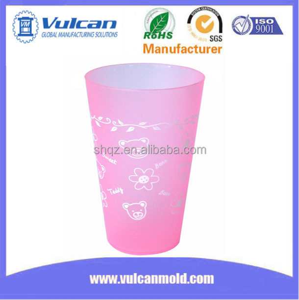 High quality produce plastic cup mold, offer injection moulding service