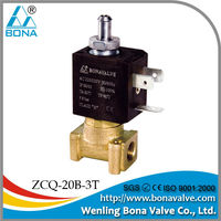 "1/8"" Brass espresso Coffee Vending Machine Steam Hot Water Solenoid Valve 110V 220V ZCQ-20B-3T"
