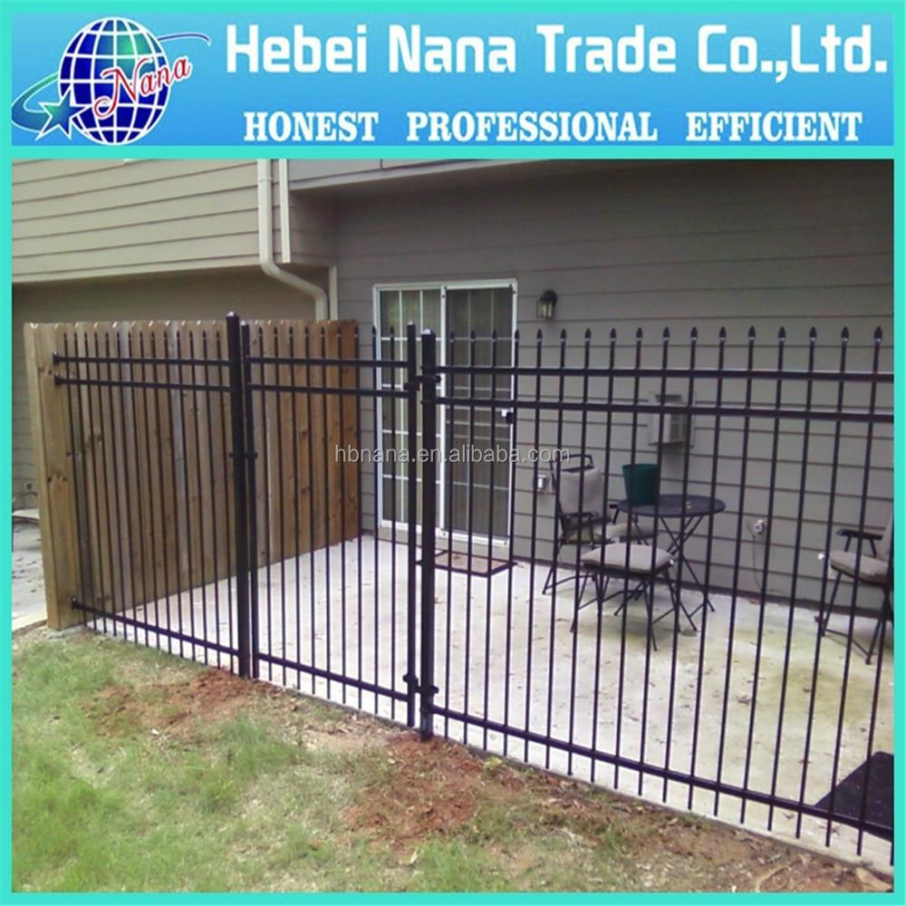 Steel outdoor garden fence metal panels for yard