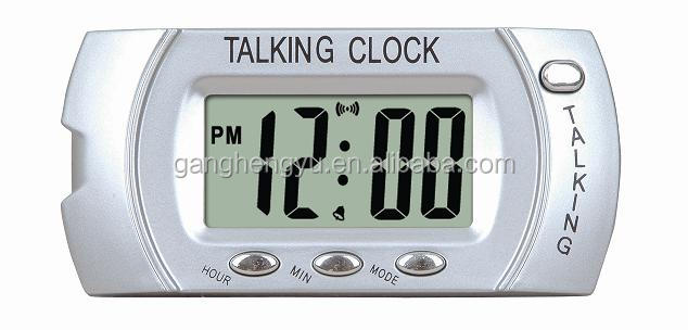 Mini pocket russian talking alarm clock , Mini LCD talking clock