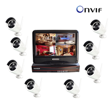 960P WIFI NVR kit in 8 channel, h.264 wifi NVR wifi security camera kit with monitor