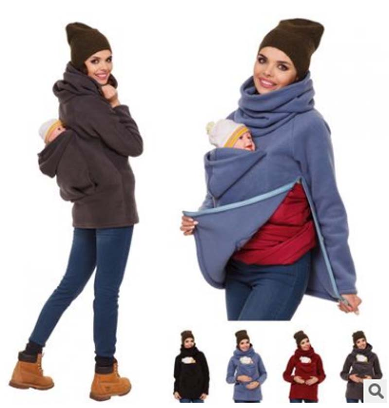 Hot sell Pregnancy Kangaroo Coat Wholesale hooodie Maternity clothes