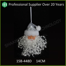 christmas decoration hanging santa claus heads