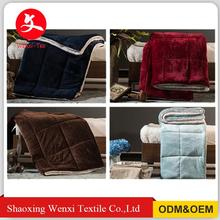 Chinese suppliers custom Logo fashion polyester cheap fleece weight Blanket