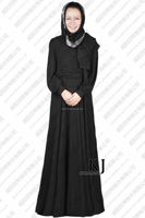 2014 WAB 8034 KJ cheap wholesale black abaya for women with belt and big him for summer