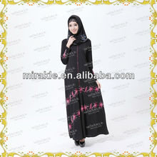 MF19501 2013 new design embroidered muslim dress abaya