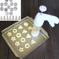 Factory directly pastry cake cookie decorating gun with 12 mould