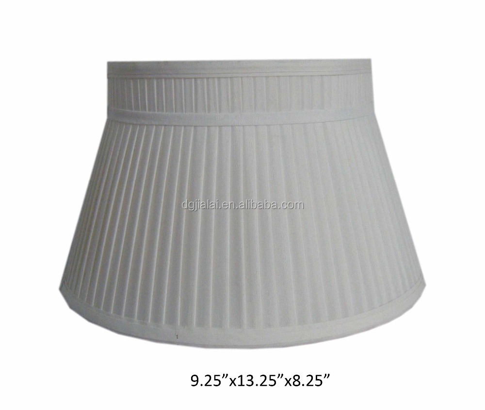 pleated fabric table lamp shade