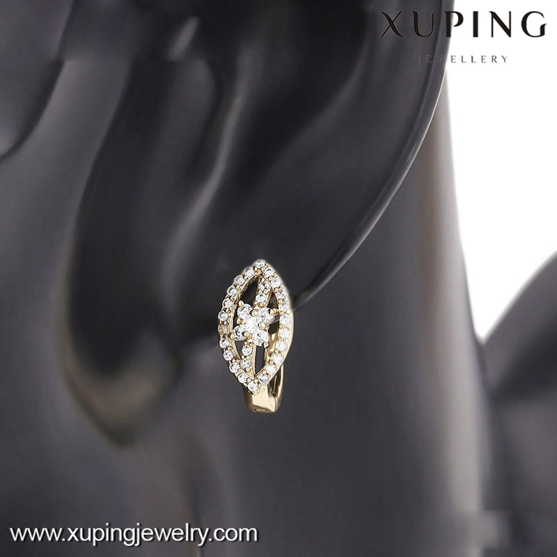 90701 xuping earrings for women jewelry, 14k gold color pictures of gold earrings, wedding earrings