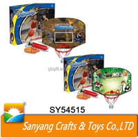 funny plastic hanging basketball hoop toys with ball