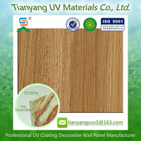 high technology wooden grain waterproof fluorocarbon resin panel