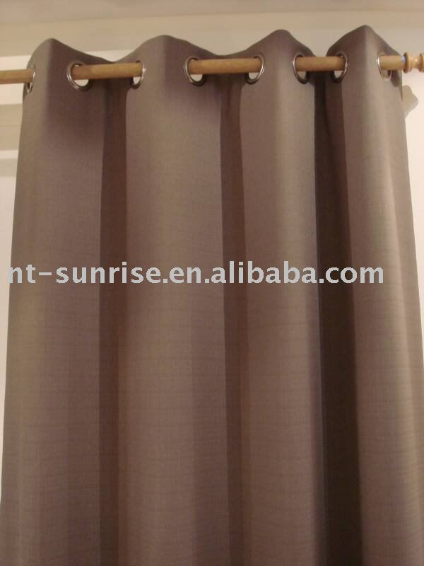 eyelet blackout romantic home striped curtains