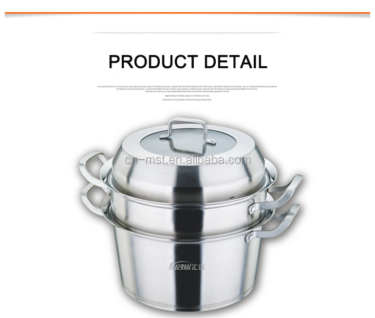 High quality Wholesale metal stainless steel steamer pot