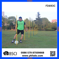PVC cross training pole sticks soccer training poles football accessories training products(FD693C)