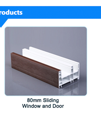 60 series horizontal pattern anti-uv pvc window frame