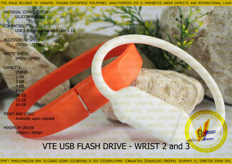 VANAPOL USB FLASH DRIVE WRIST 2 and 3